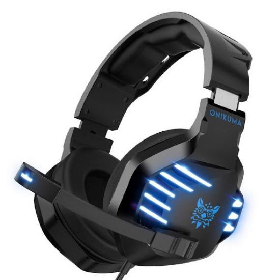 سماعة العاب أونيكوما K17  اللون مموه 3.5 مللي- فوق الأذن متوافقه مع الكمبيوتر المحمول وبلايستيشن 4 والموبايل