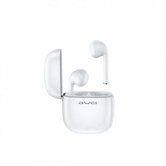 Awei T28 TWS Bluetooth Earphone - White