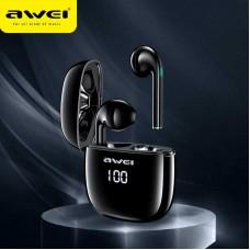 Awei T28P TWS Bluetooth Earphone - Black
