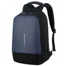 MEINAILI 1801 - حقيبة لاب توب أكسفورد 15.6 بوصة مع منفذ USB - أسود & أزرق