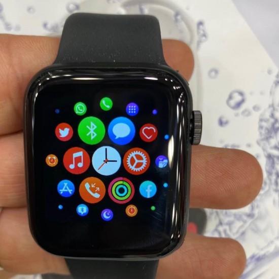 ساعة ذكية T5s - متوافقه مع اندرويد - ios - أسود