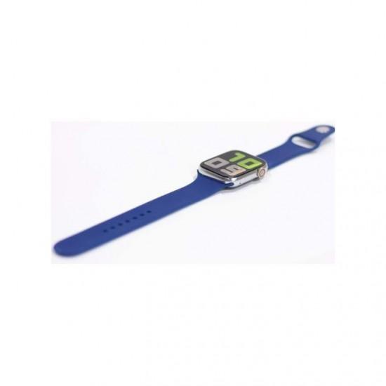 ساعة ذكية T5s - متوافقه مع اندرويد - ios - أزرق x فضي